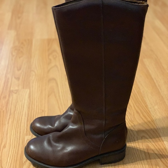 UGG Shoes - Ugg Tall Brown Leather Riding Boots